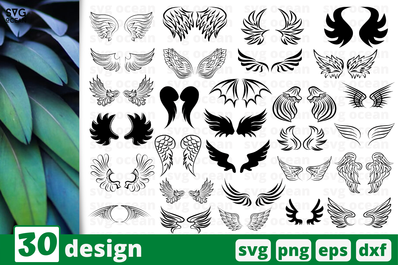 30 Wings Svg Bundle Feather Cricut Svg By Svgocean