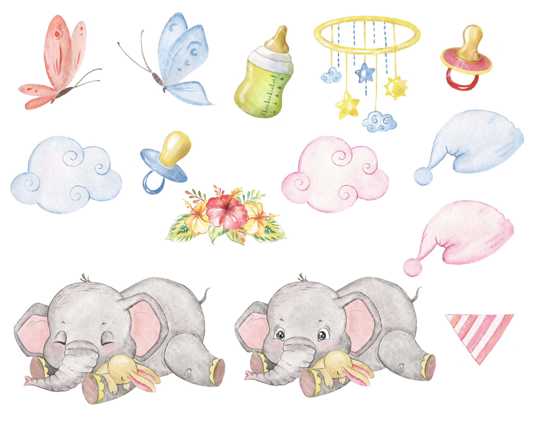 Elephants clipart 2 - ClipartAndScrap