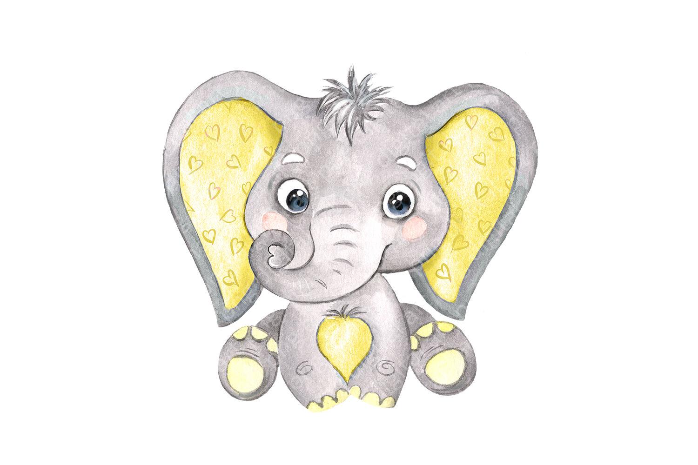 Cute Wild Elephant Cartoon Clipart Vector - FriendlyStock