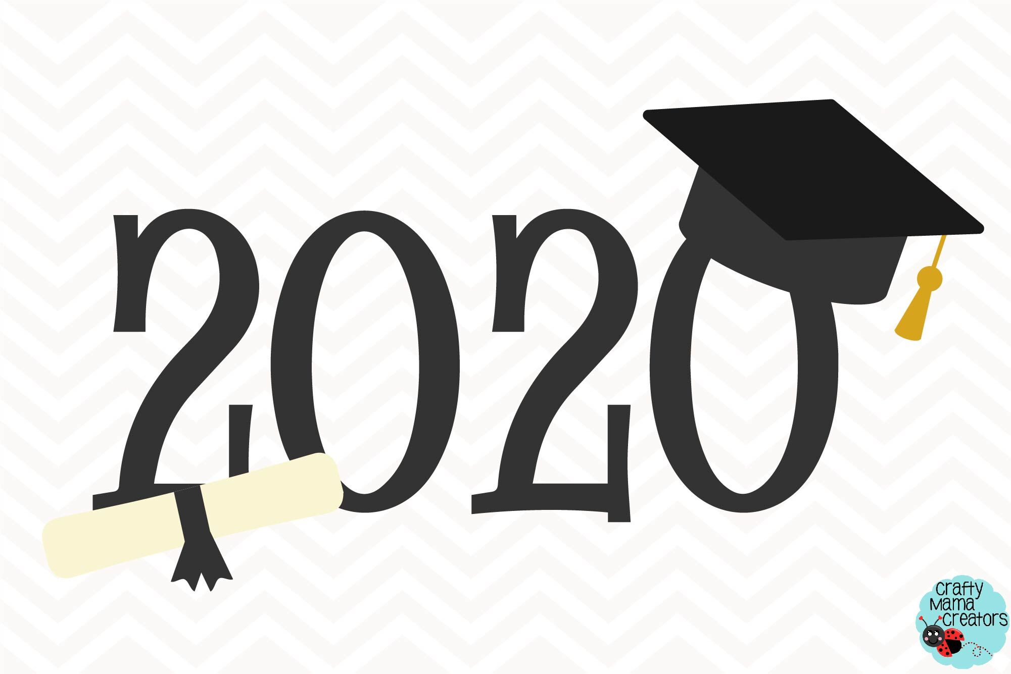 Graduation Cap Svg, 2020 Graduate Clipart By Crafty Mama ...