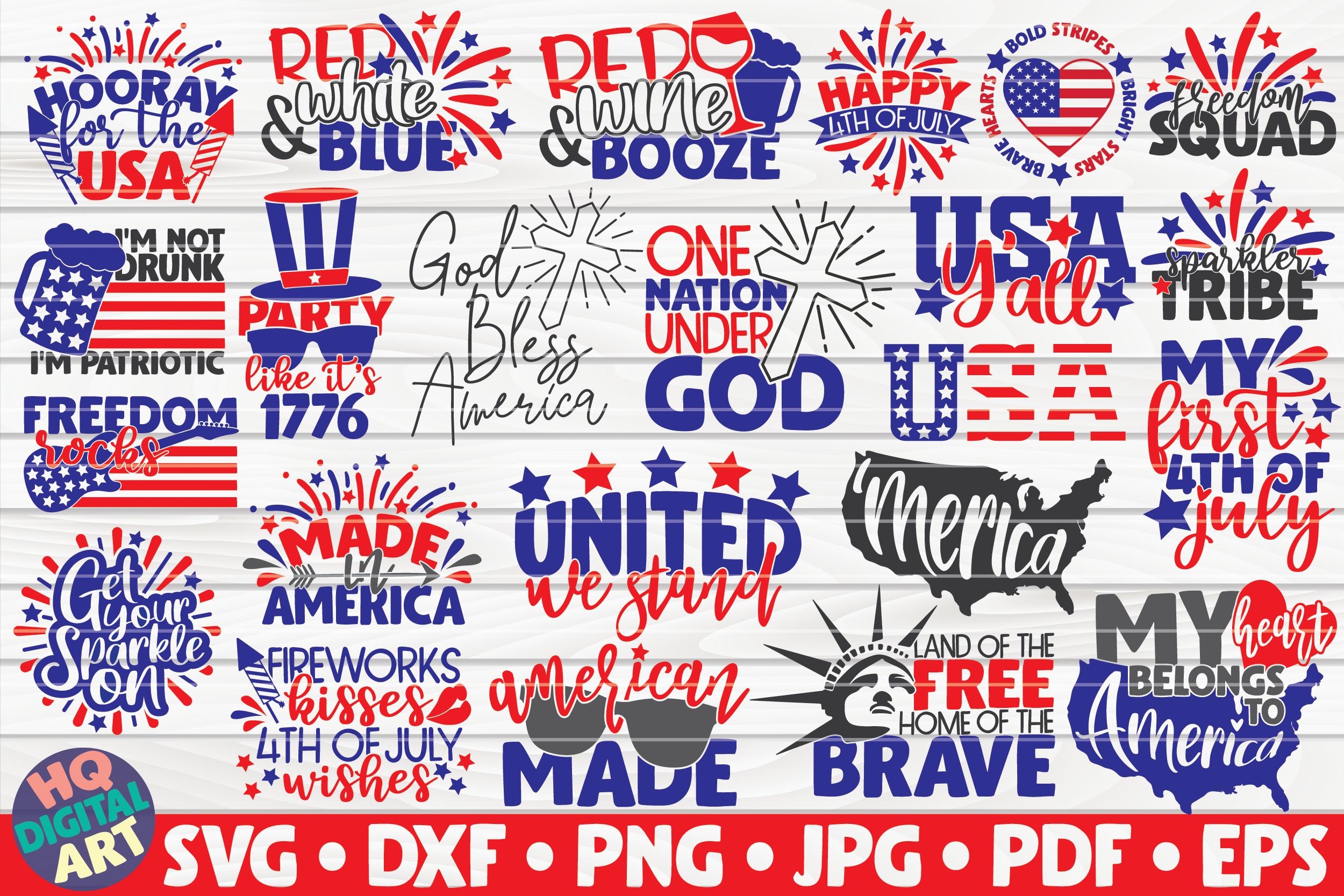 4th Of July Svg Bundle 23 Designs By Hqdigitalart
