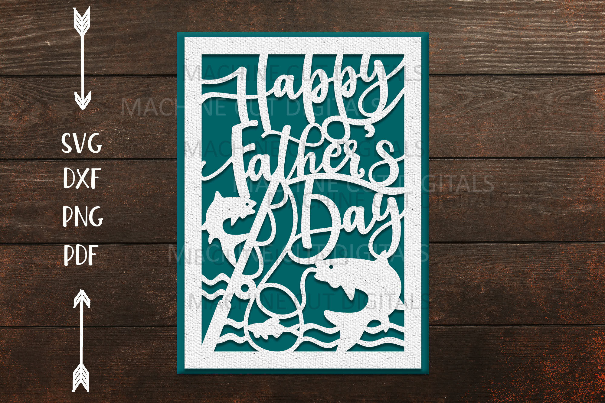 Download Happy Fathers Day Card For Paper Laser Cut Cricut Svg Dxf By Kartcreation Thehungryjpeg Com