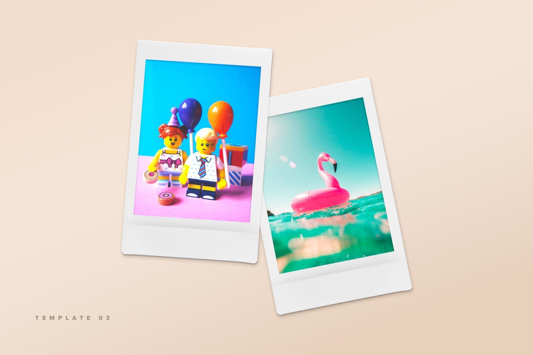 Polaroid Mockup Free Psd