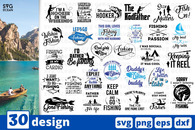 Download 30 Fishing Svg Bundle Quotes Cricut Svg By Svgocean Thehungryjpeg Com