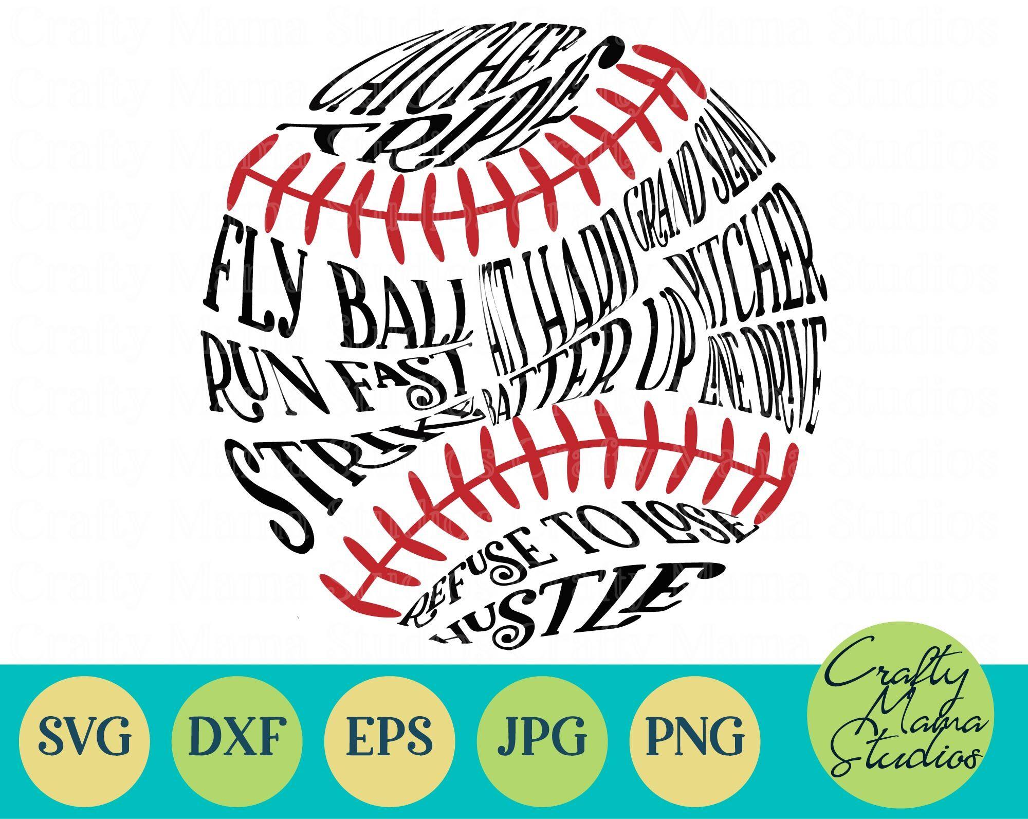 Baseball Words Svg Baseball Mom Svg Sports Svg By Crafty Mama Studios Thehungryjpeg Com
