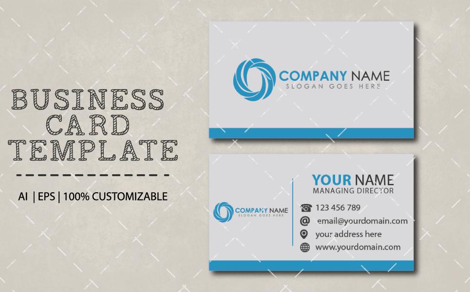 Simple Business Card Design Template By Graphics Ninja Thehungryjpeg Com