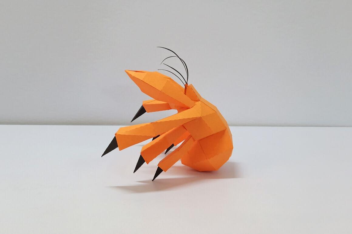 Hermit crab origami | Origami paper art, Origami art, Paper art | 772x1160