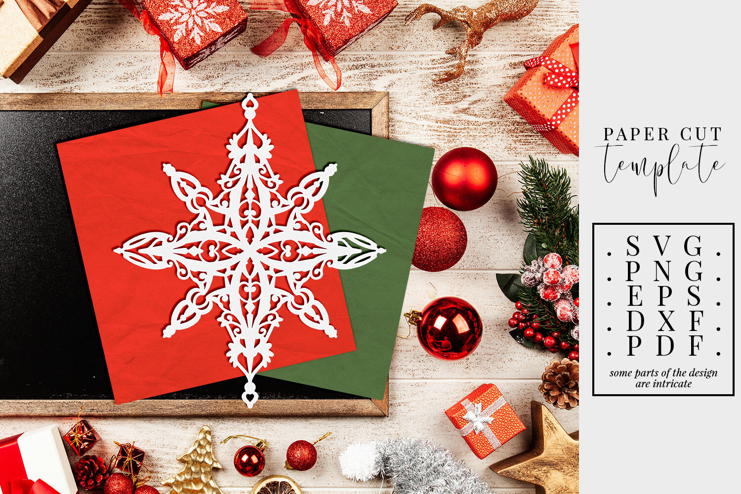 christmas paper cut template  xmas star decoration svg