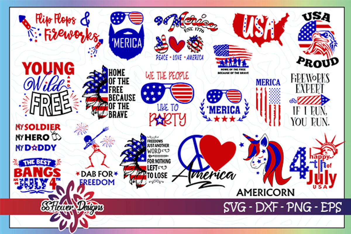 60 Files 4th Of July Bundle Graphic 4th Of July Bundle Svg By Ssflowerstore Thehungryjpeg Com