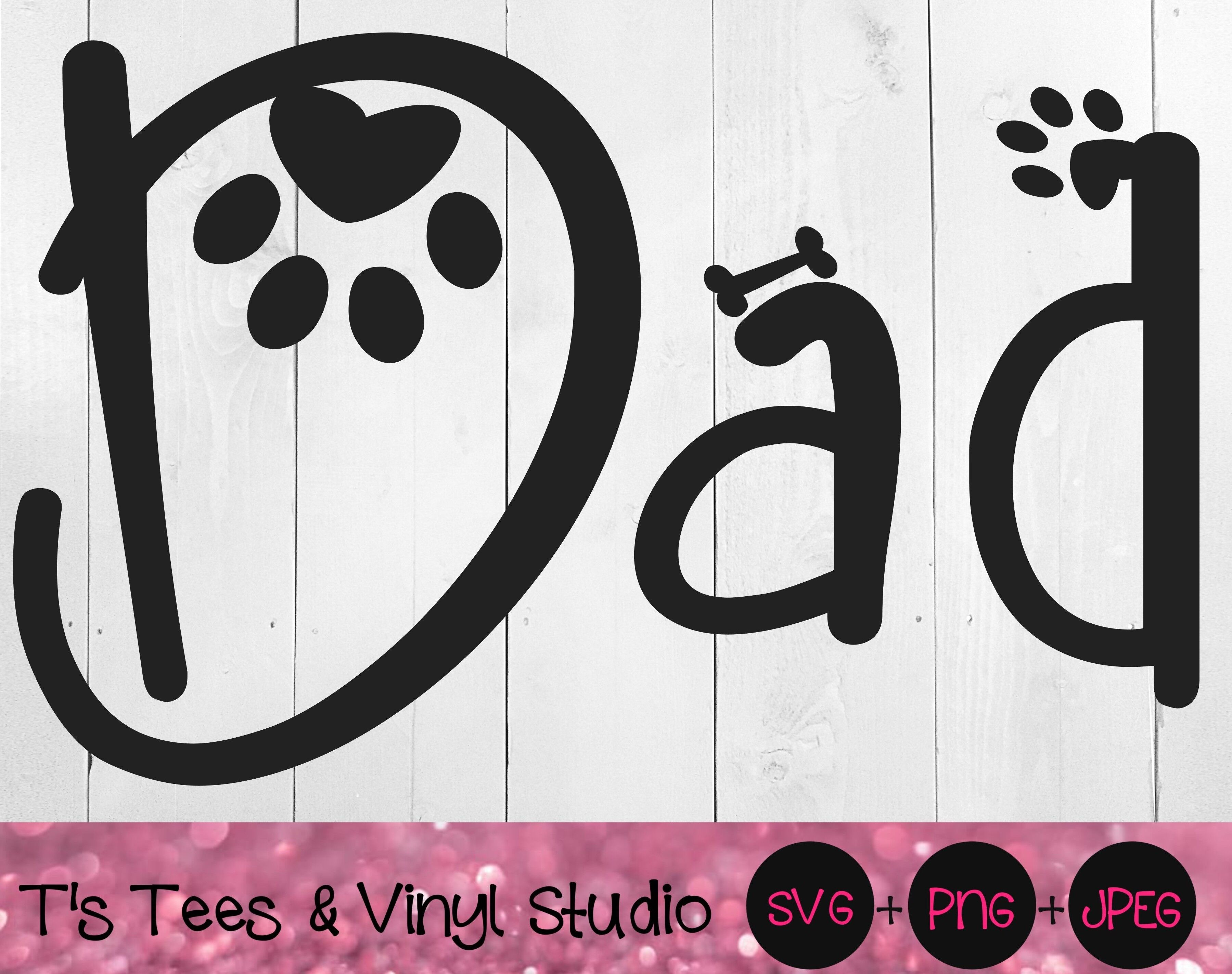 Free This is a personal use svg file and it's perfectly compatible with cricut explore, silhouette cameo, brother scan n cut, sizzix eclips, sure. Dad Svg Dog Dad Svg Paw Svg Bone Svg Father S Day Svg Furbaby Fat By T S Tees Vinyl Studio Thehungryjpeg Com SVG, PNG, EPS, DXF File