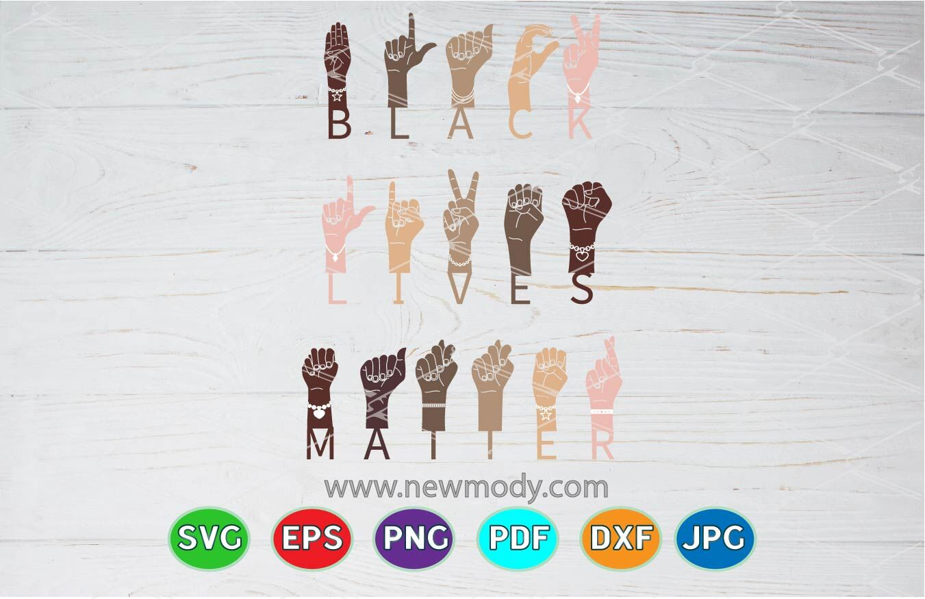 Black Lives Matter Sign Language Hand Svg Sign Language Svg By Amittaart Thehungryjpeg Com