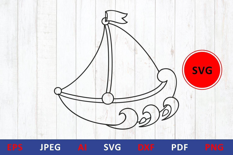 Boat Svg Cut Files Sailboat Svg By Zoya Miller Svg Thehungryjpeg Com