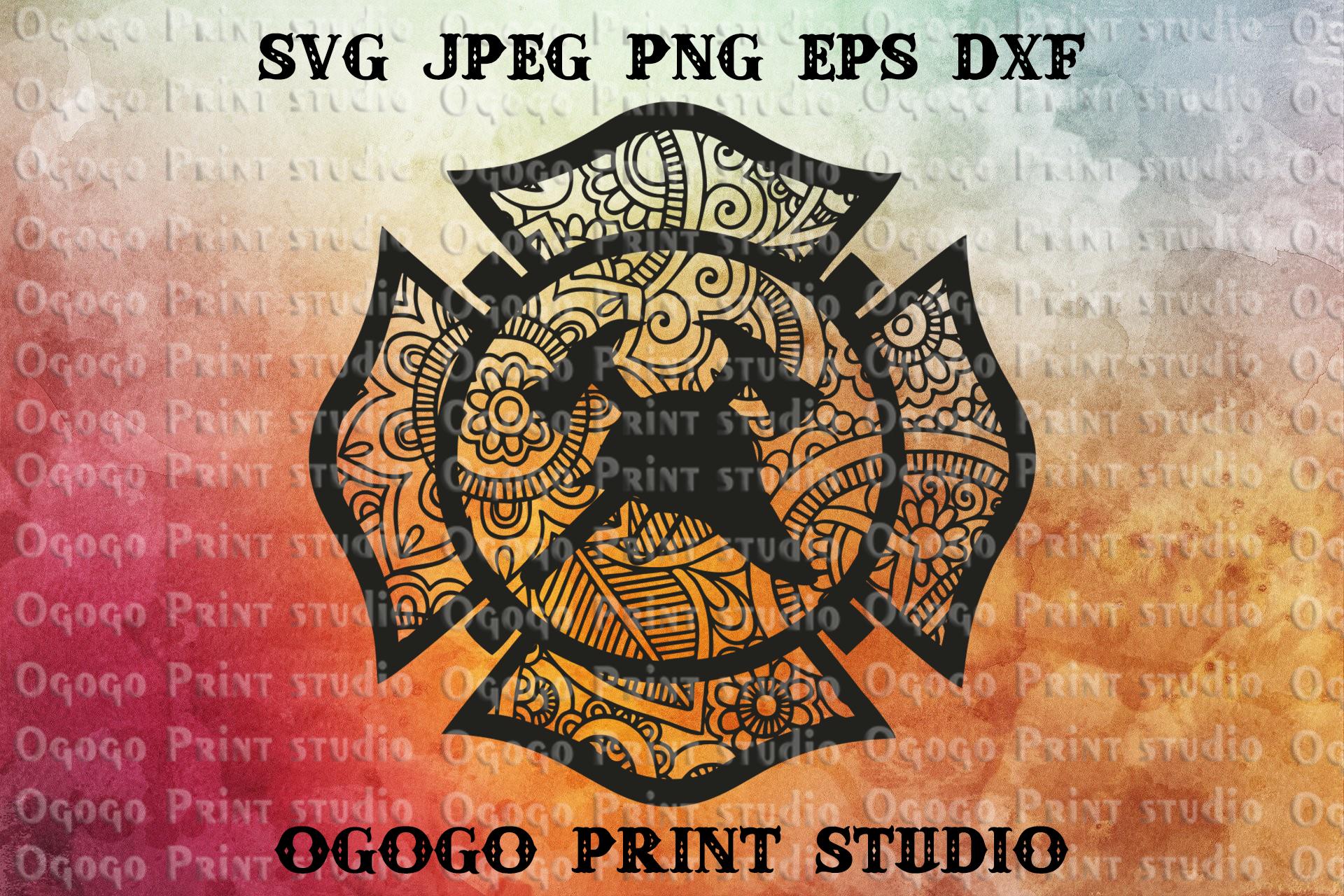 Maltese Cross Svg Firefighter Svg Zentangle Svg Mandala By Ogogo Print Thehungryjpeg Com