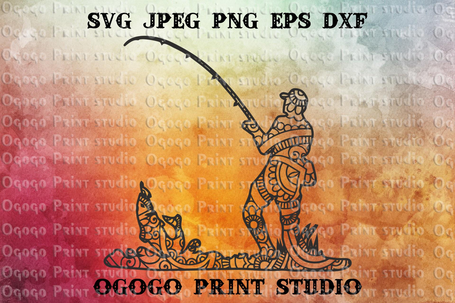 Download Fishing Svg Zentangle Svg Mandala Svg Fathers Day Svg By Ogogo Print Thehungryjpeg Com