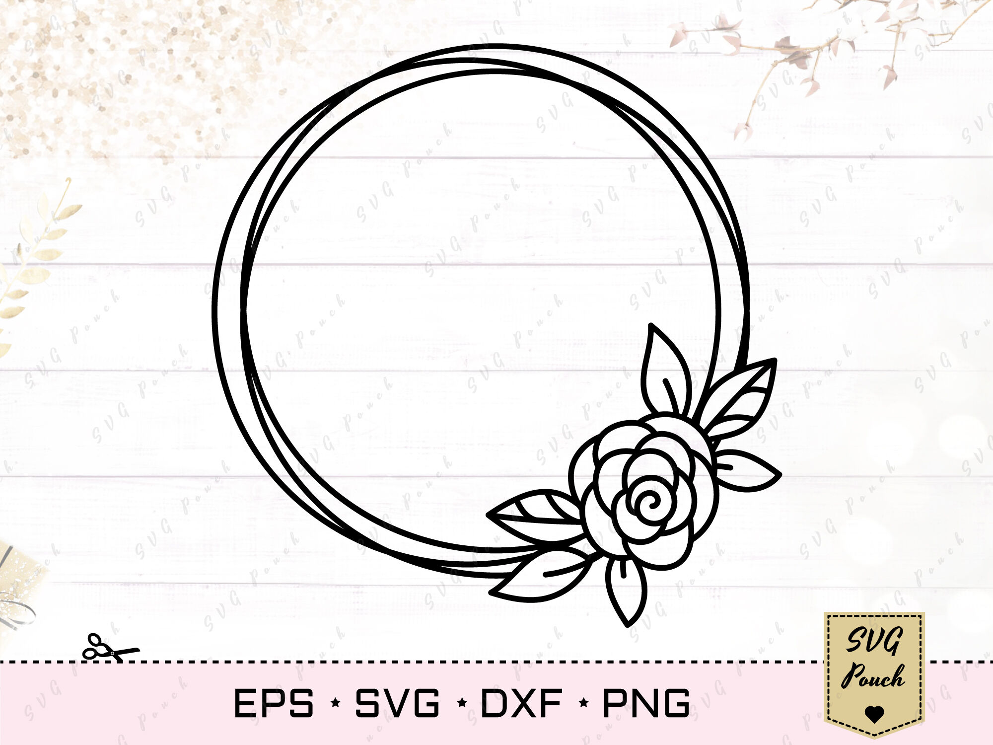 Floral Wreath Svg By Svgpouch Thehungryjpeg Com