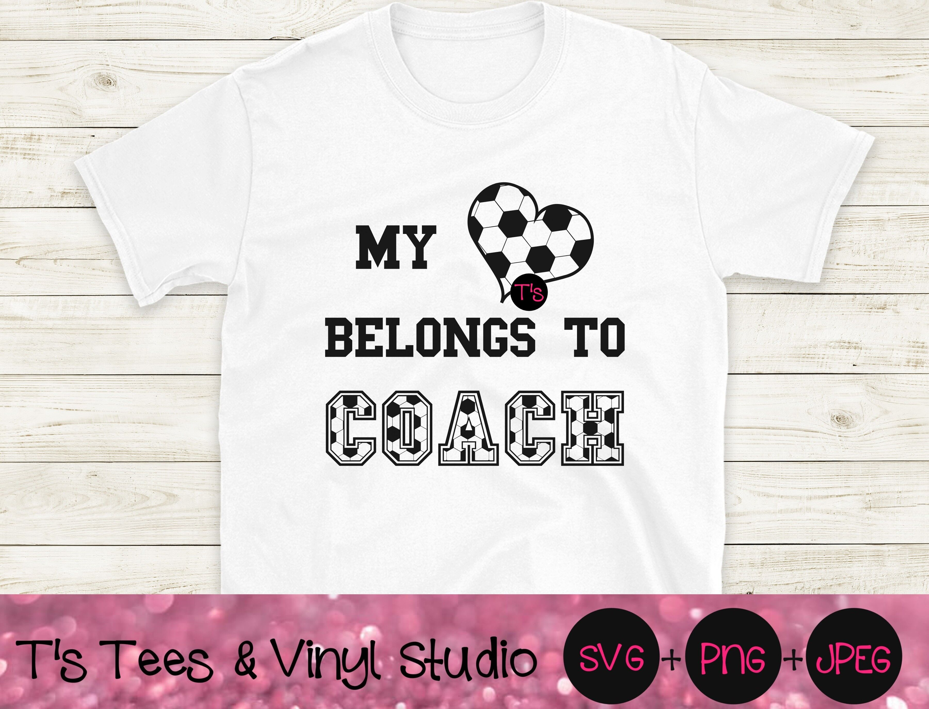 Soccer Svg Coach Svg Heart Svg Soccer Png Coach Png Love Soccer S By T S Tees Vinyl Studio Thehungryjpeg Com