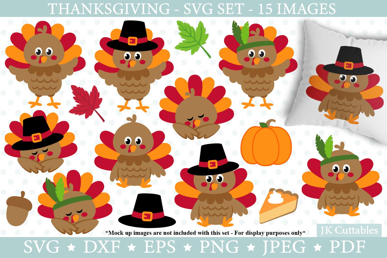 Thanksgiving Turkey Svg Dxf Png Eps Jpeg Cut Files Fall Svg By Jkcuttables Thehungryjpeg Com