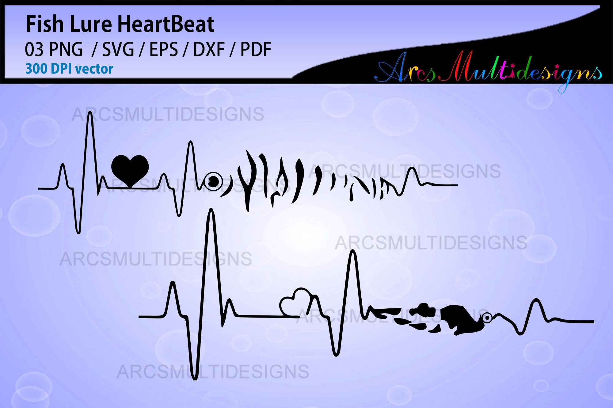 Download Fishing Lure Heartbeat Svg By Arcsmultidesignsshop Thehungryjpeg Com