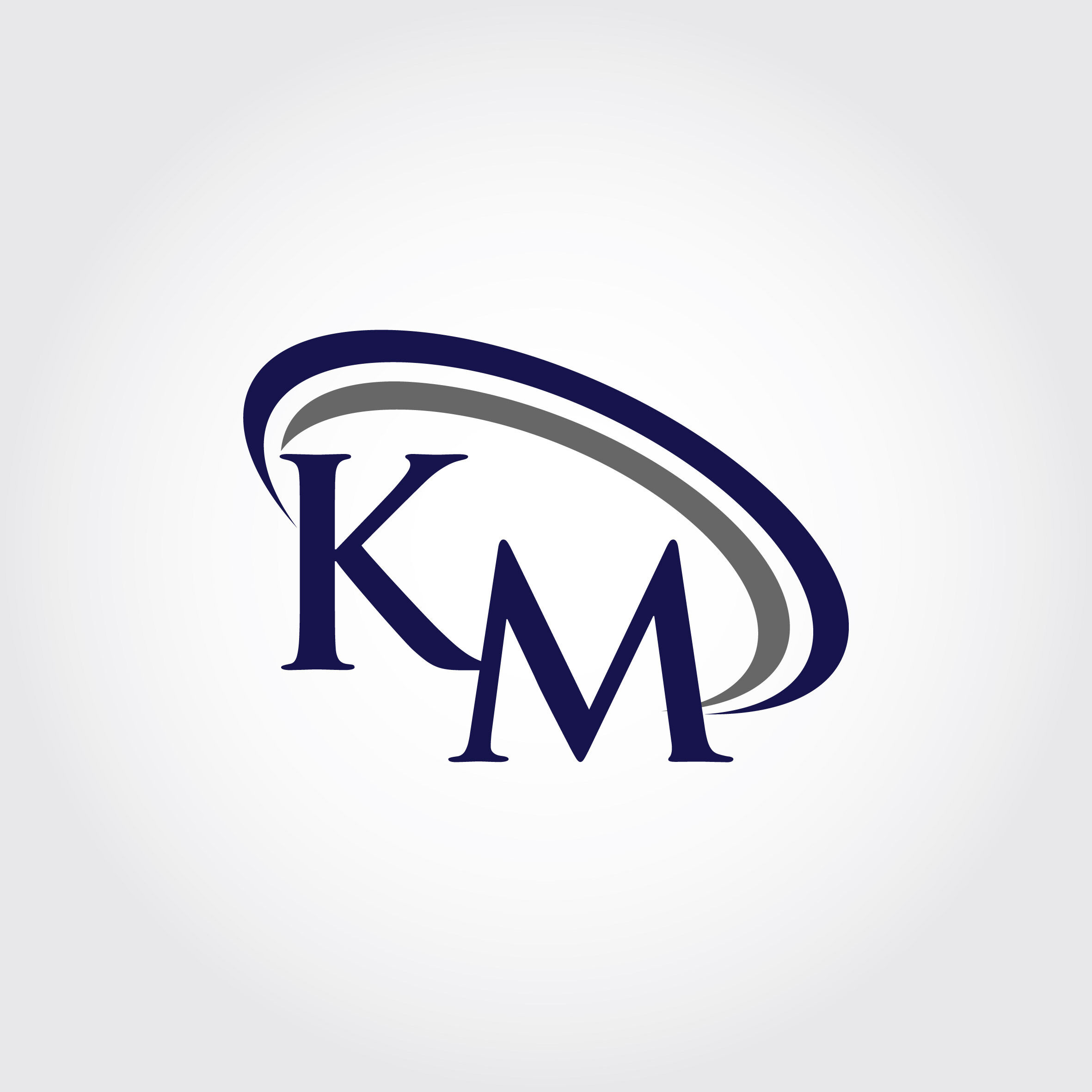 Monogram Km Logo Design By Vectorseller Thehungryjpeg Com