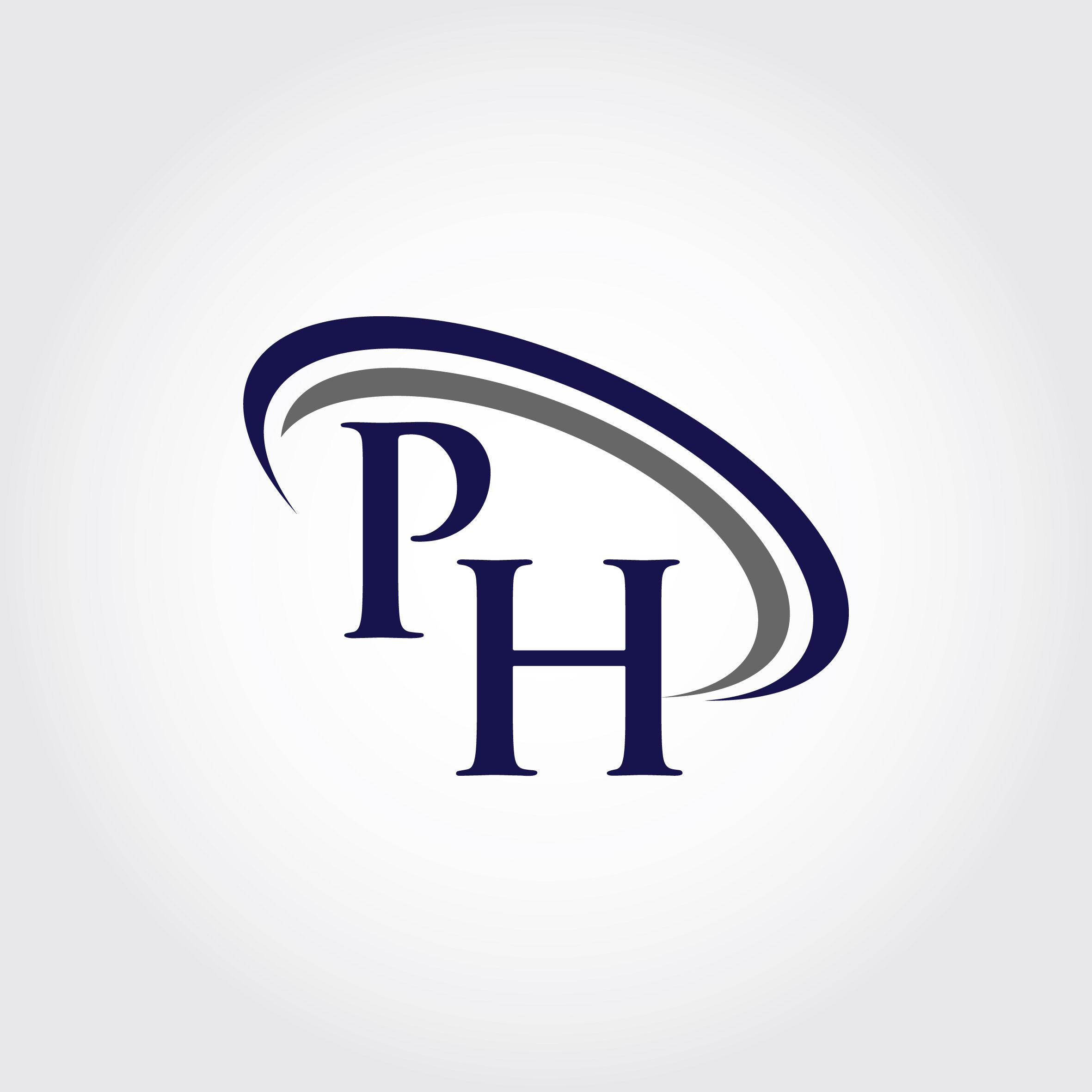 Monogram Ph Logo Design By Vectorseller Thehungryjpeg Com