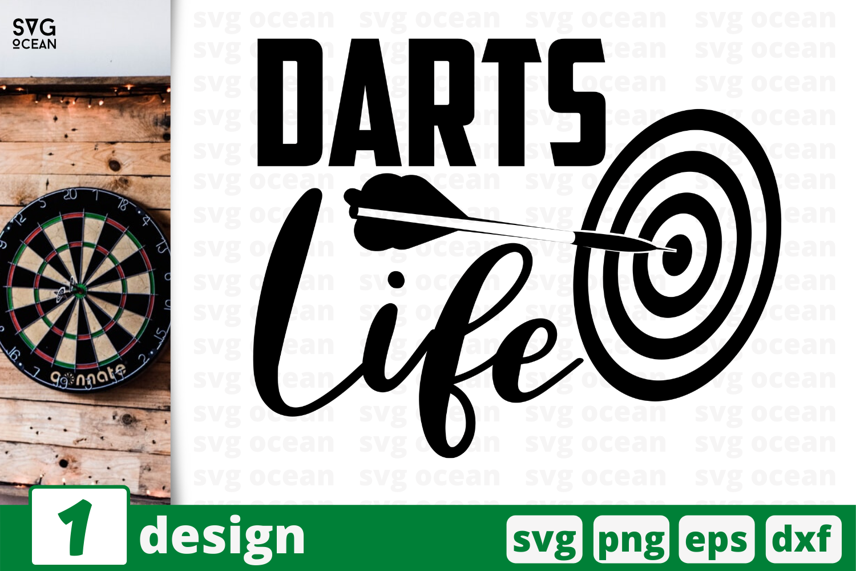 1 Darts Life Sport Quotes Cricut Svg By Svgocean Thehungryjpeg Com