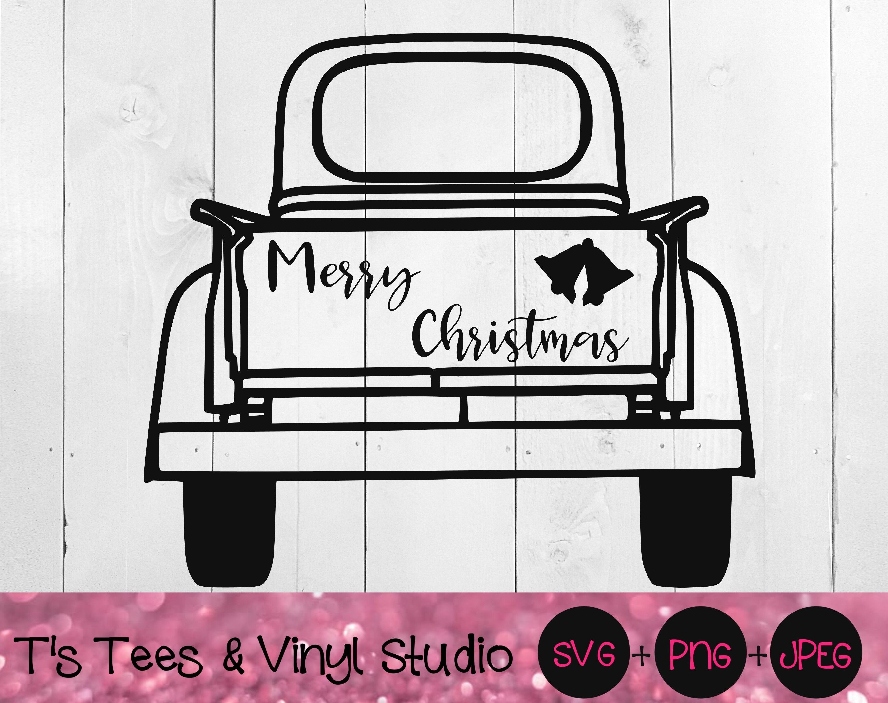 Vintage Truck Svg Merry Christmas Svg Christmas Pickup Svg Vintage By T S Tees Vinyl Studio Thehungryjpeg Com