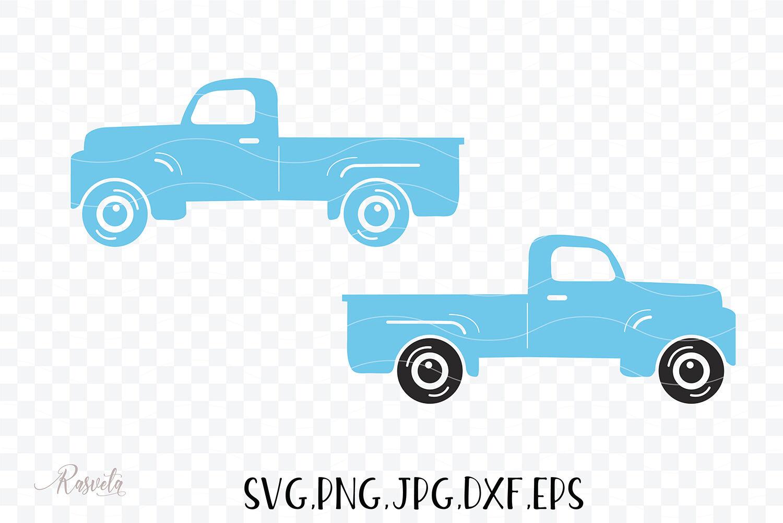 Vintage Pickup Old Truck Clipart Svg Eps Dxf Png Jpeg Pickup Truck By Rasveta Thehungryjpeg Com