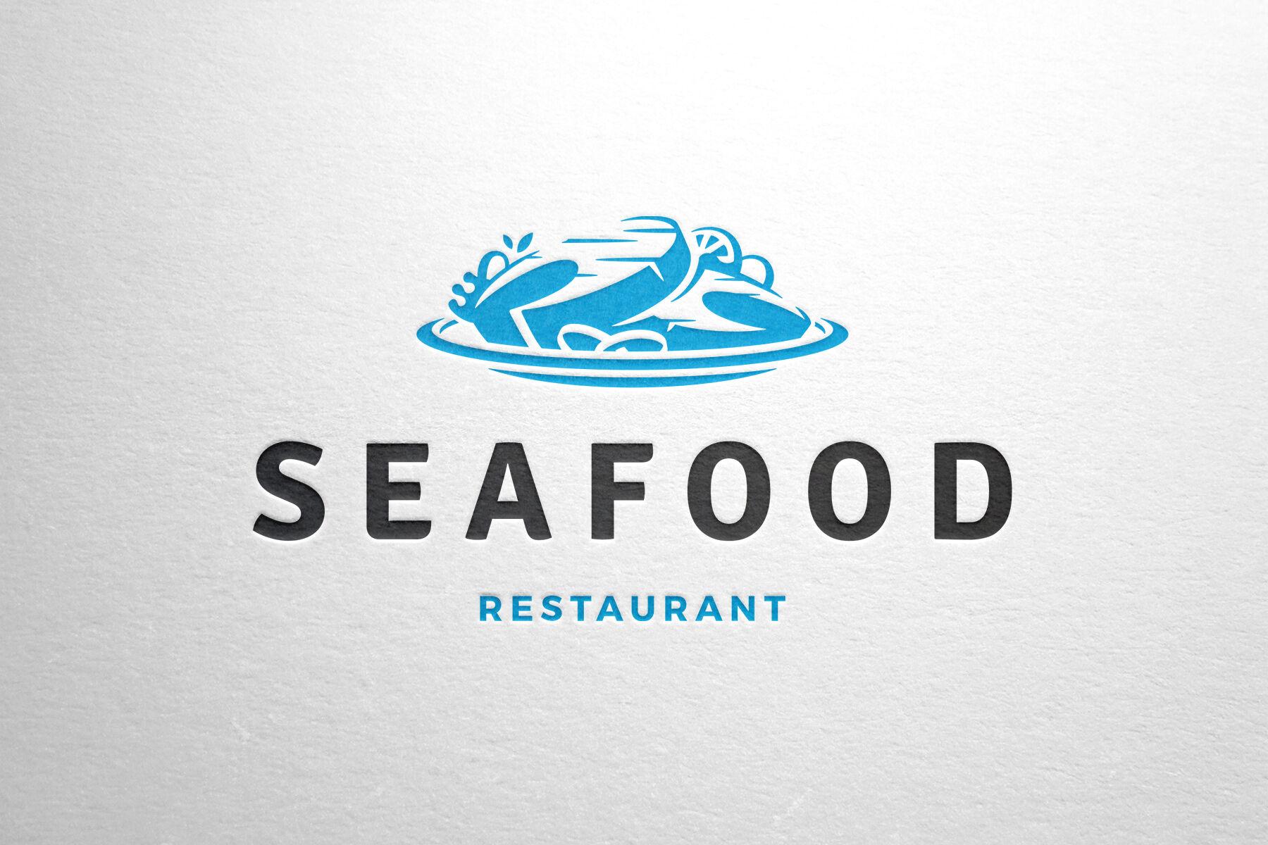 Seafood Restaurant Logo Design By Vasya Kobelev Thehungryjpeg Com