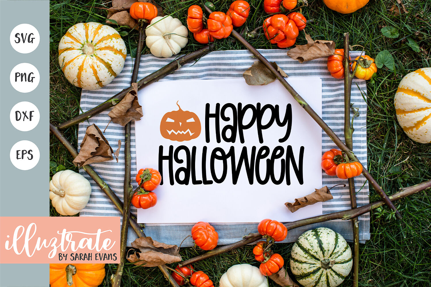 Happy Halloween Svg Cut Files Halloween Svg Cut Files By Illuztrateuk Thehungryjpeg Com