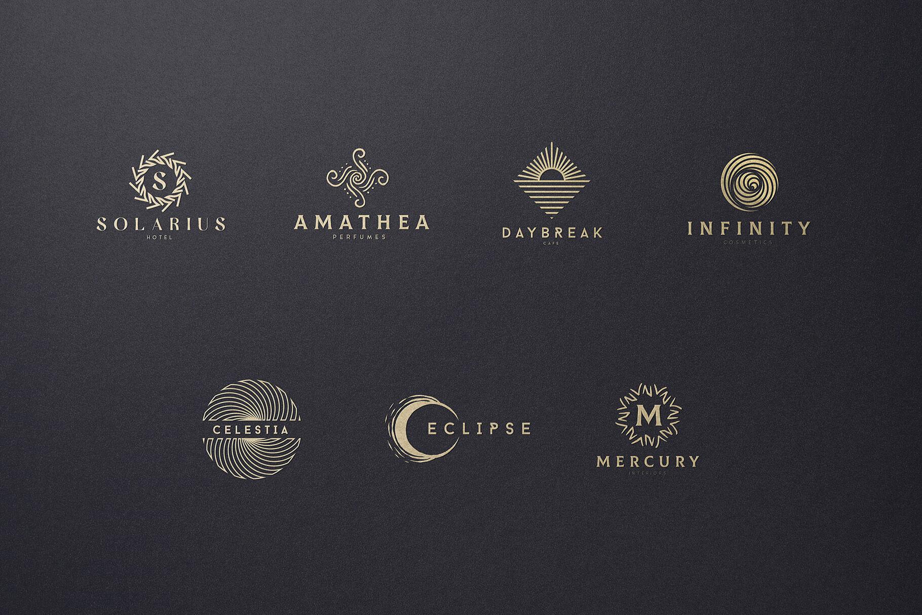 Gold Logo Mockup Psd Free