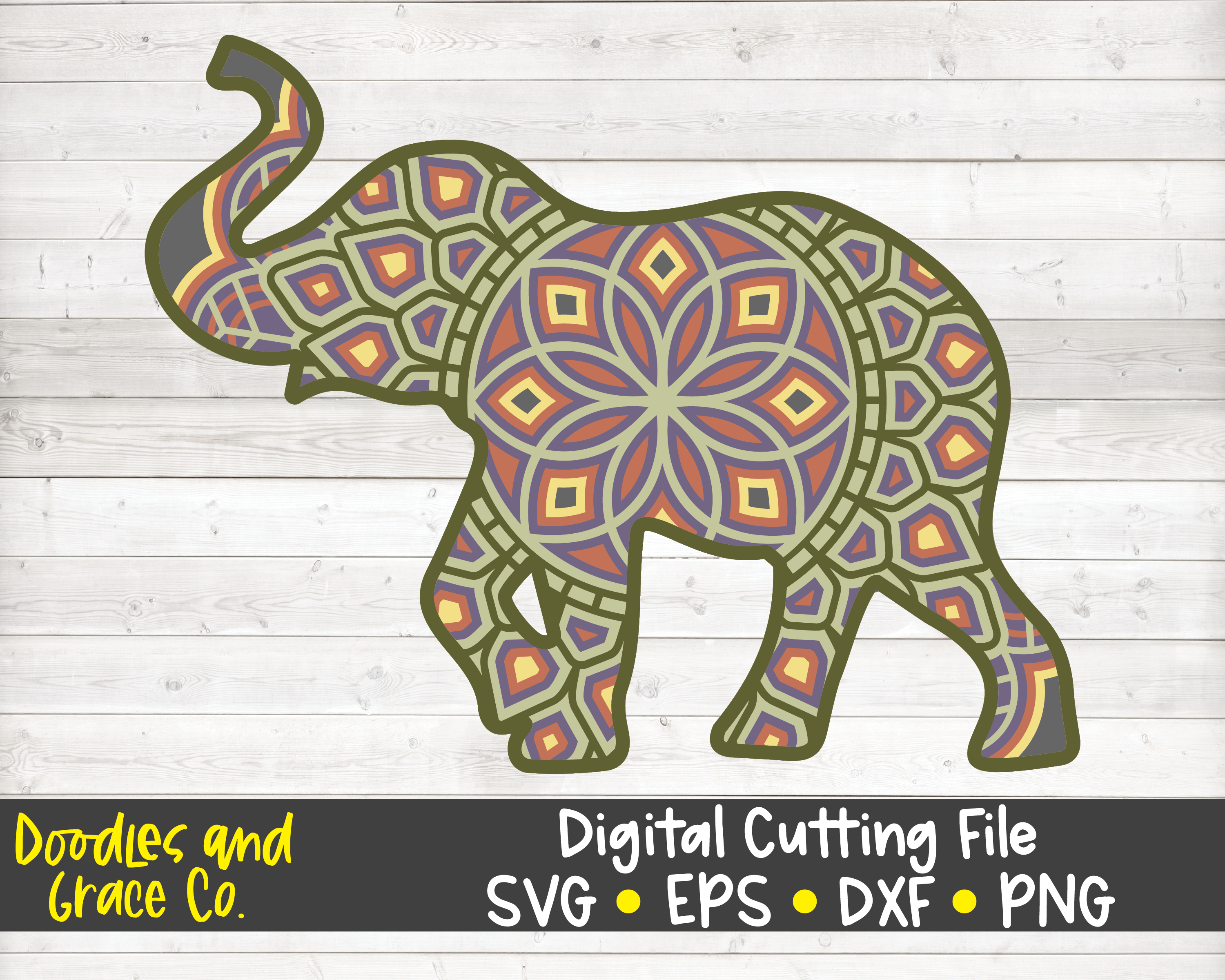 Elephant 3d Layered Mandala Svg Dxf Eps Png By Doodles And Grace Thehungryjpeg Com Also elephant mandala png available at png transparent variant. elephant 3d layered mandala svg dxf