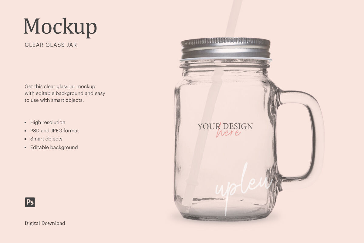 Download Clear Jar With Powder Mockup Yellowimages