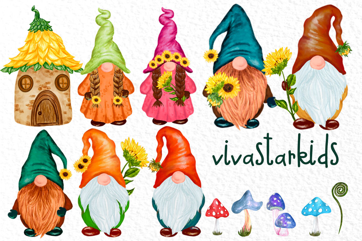 Set of isolated gnome fairy tale houses - Download Free Vectors, Clipart  Graphics & Vector Art