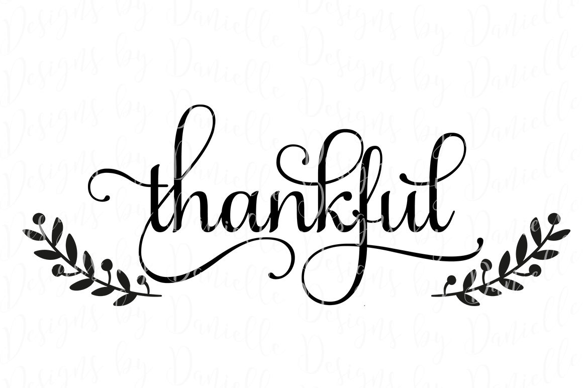 Thankful Thanksgiving SVG Cutting File By Designs by Danielle |  TheHungryJPEG.com