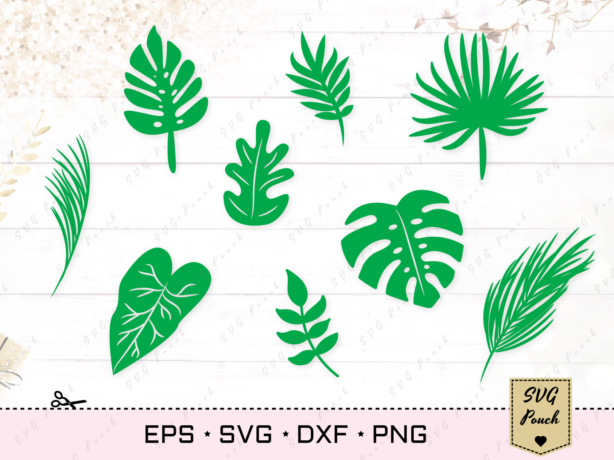 Tropical Leaves Svg By Svgpouch Thehungryjpeg Com Check out our tropical leaf svg selection for the very best in unique or custom, handmade pieces from our craft supplies & tools shops. tropical leaves svg by svgpouch