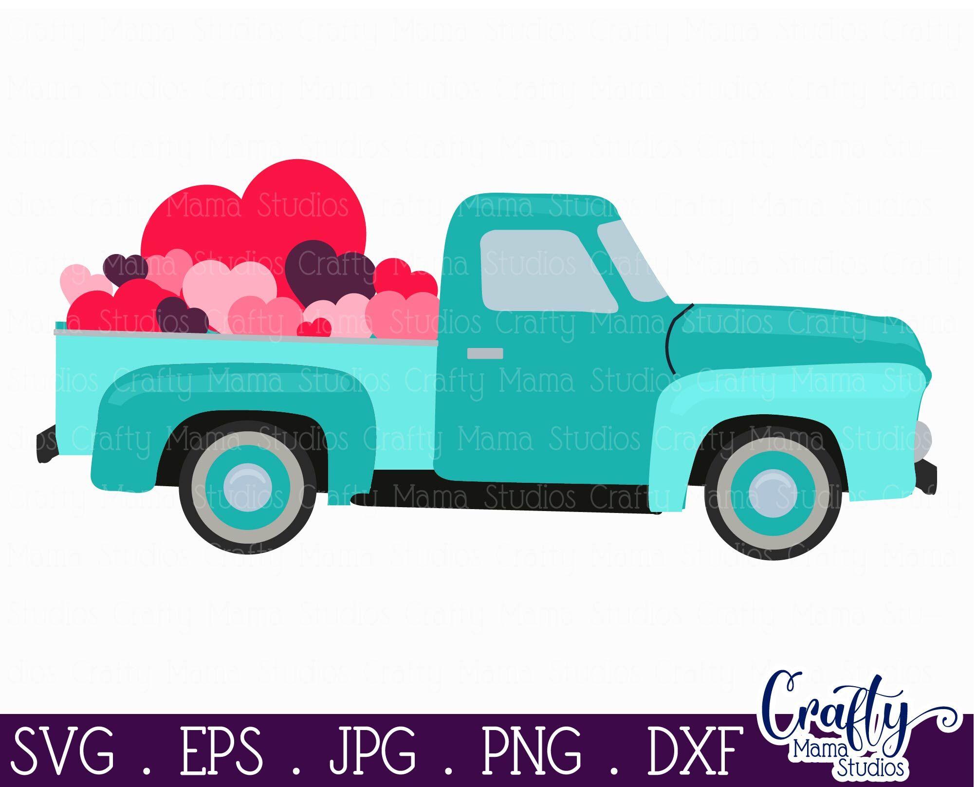 Valentines Truck svg,Valentine/'s Day png eps Conversation Hearts Stickers,Valentines Vintage Truck Valentines svg Cutting File svg