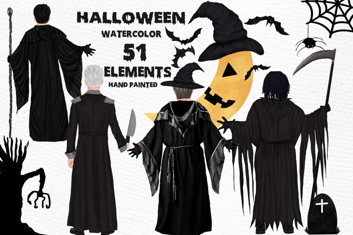 Halloween Clipart Wizard Clipart Halloween Mug Scary Clipart By Lecoqdesign Thehungryjpeg Com