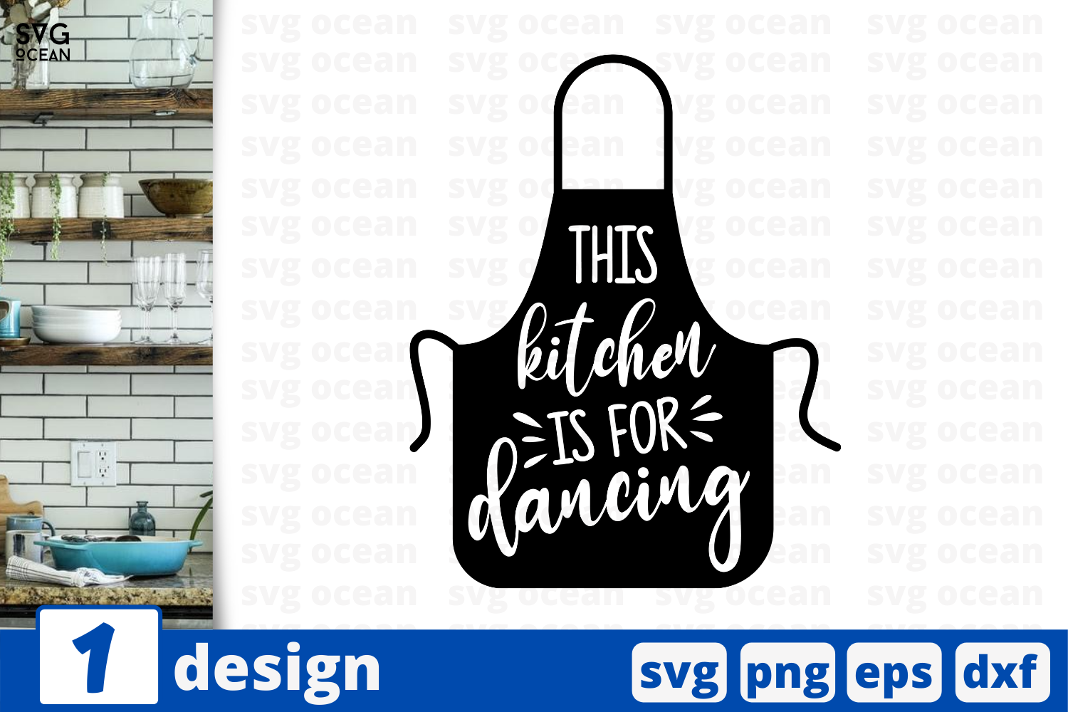 1 This Kitchen Is For Dancing Kitchen Quotes Cricut Svg By Svgocean Thehungryjpeg Com