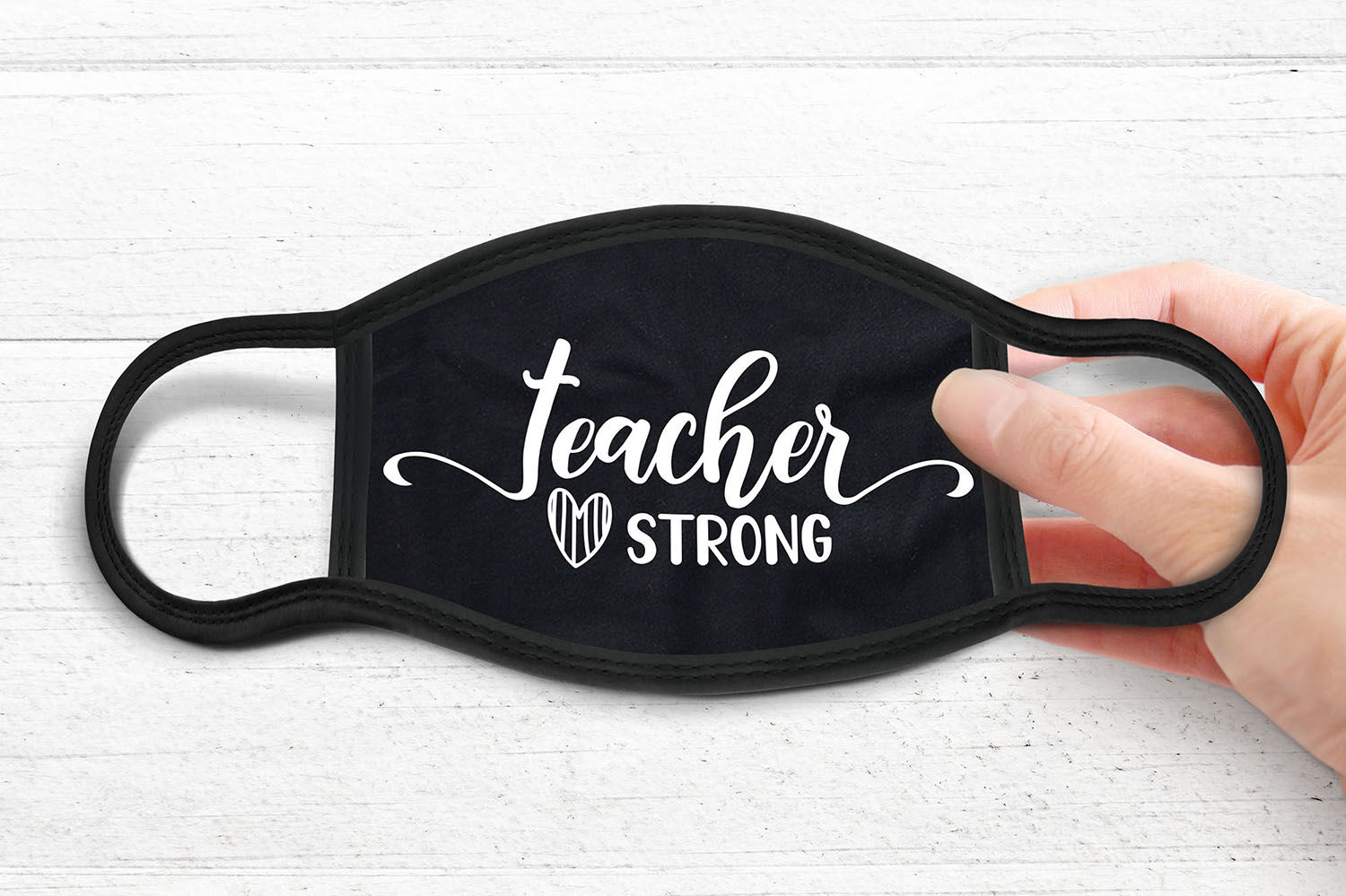 Teacher Strong Face Mask Svg Face Mask Sayings Svg Dxf Png By Craftlabsvg Thehungryjpeg Com