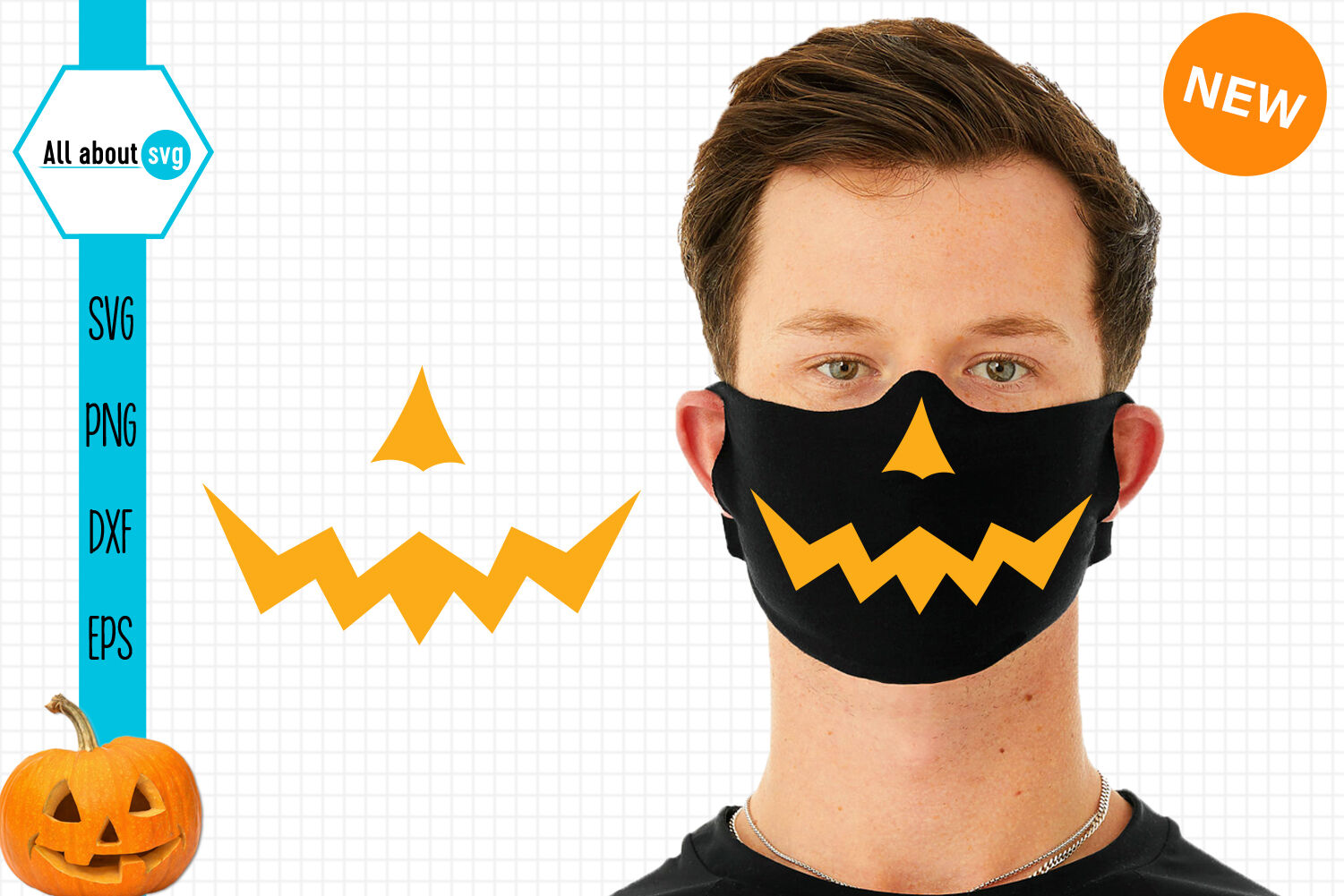 Pumpkin Mouth Bundle Halloween Face Mask Bundle By All About Svg Thehungryjpeg Com