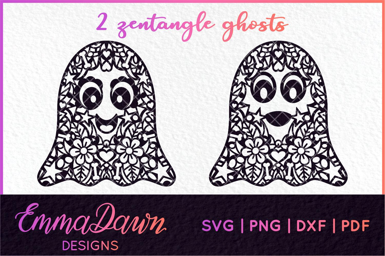 Glimmer The Ghost Mini Bundle Halloween Zentangle Designs By Emma Dawn Designs Thehungryjpeg Com