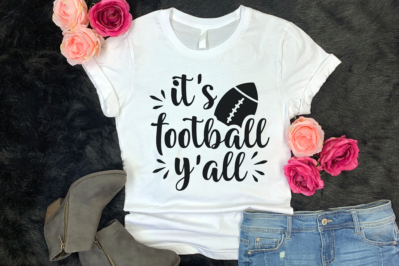 It S Football Y All Football Design Football Svg Cut File By Craftlabsvg Thehungryjpeg Com