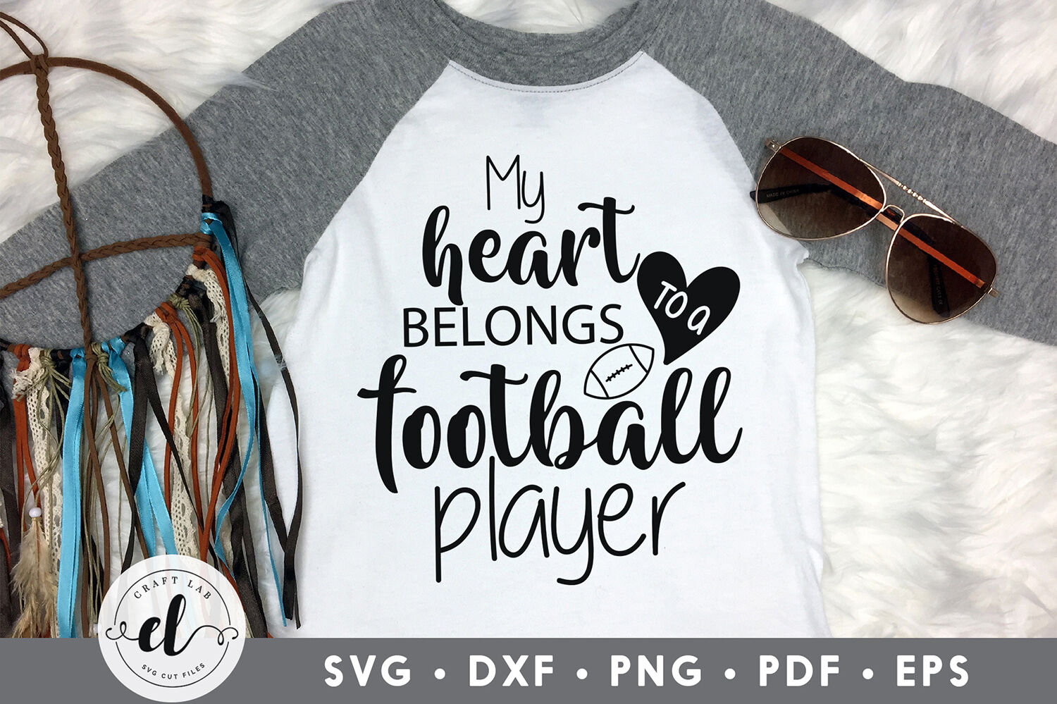My Heart Belongs To A Football Player Football Svg Cut File By Craftlabsvg Thehungryjpeg Com