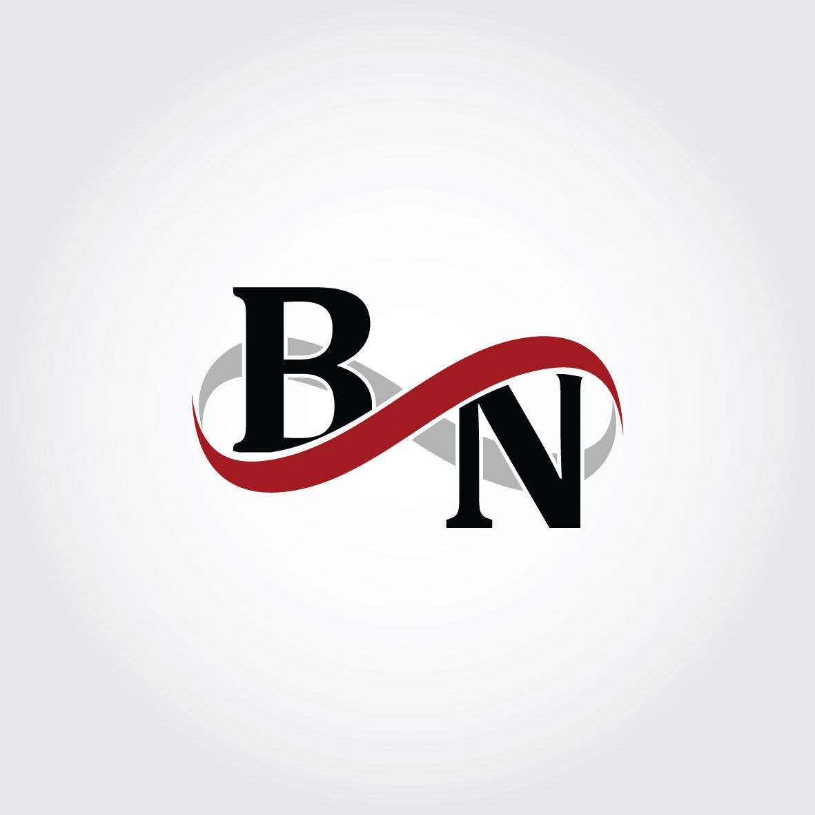 Bn Infinity Logo Monogram By Vectorseller Thehungryjpeg Com