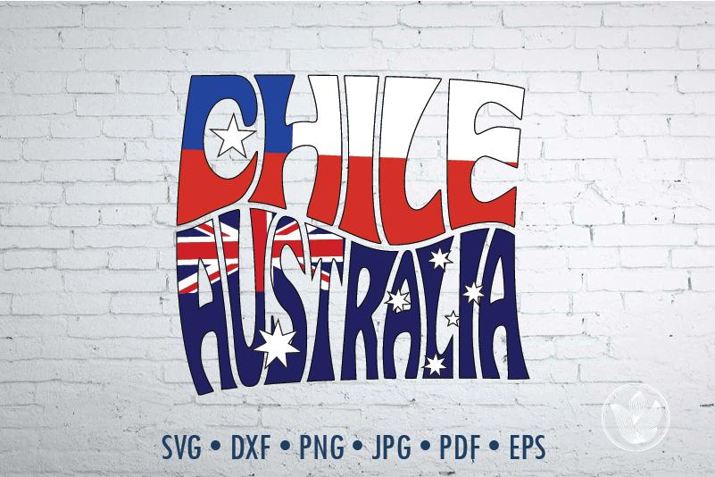 Chile Australia Square Word Art Svg Dxf Eps Png Jpg Cut File By Prettydd Thehungryjpeg Com