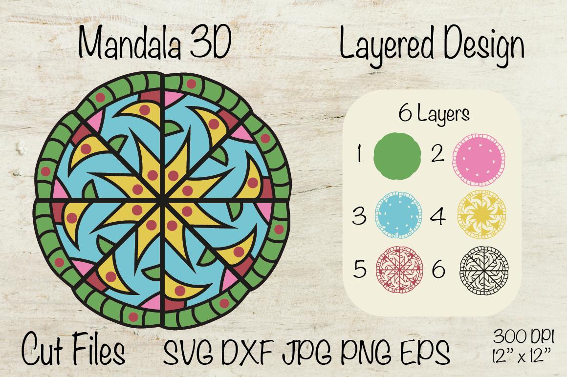 Download Mandala 3D. Mandala SVG Layered Design. By Createya Design ...