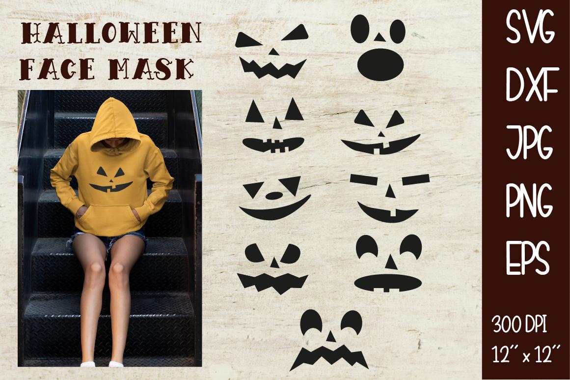 Halloween Face Mask Sublimation Cutting Svg Dxf Png Eps Jpg By Createya Design Thehungryjpeg Com