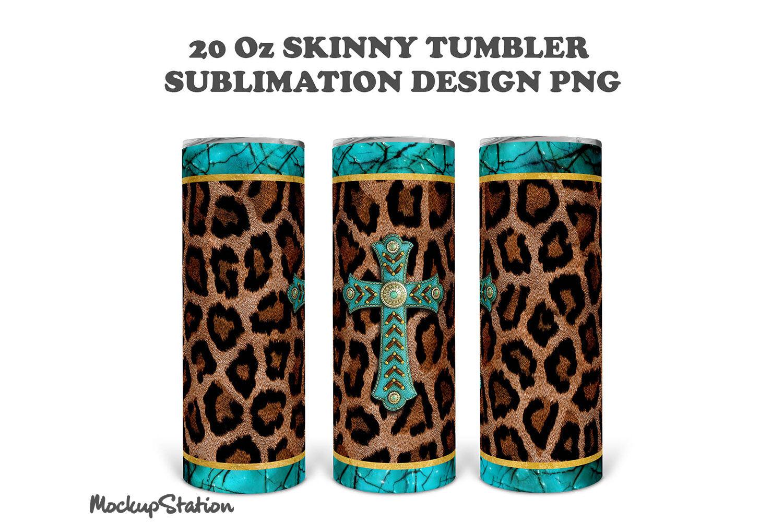 Red Plaid Gold Leopard 20 oz Skinny Tumbler Sublimation PNG Design Instant Download template