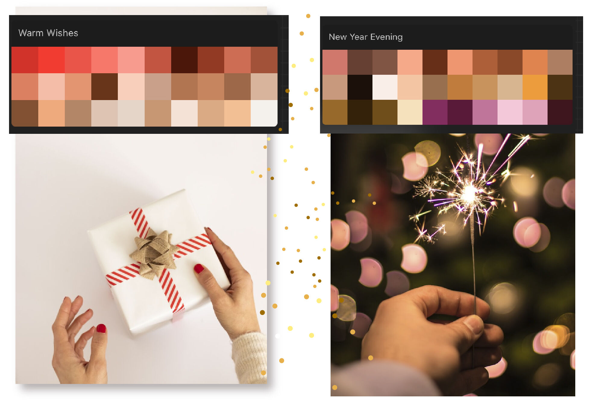 Christmas Procreate color palette. New Year Procreate ...