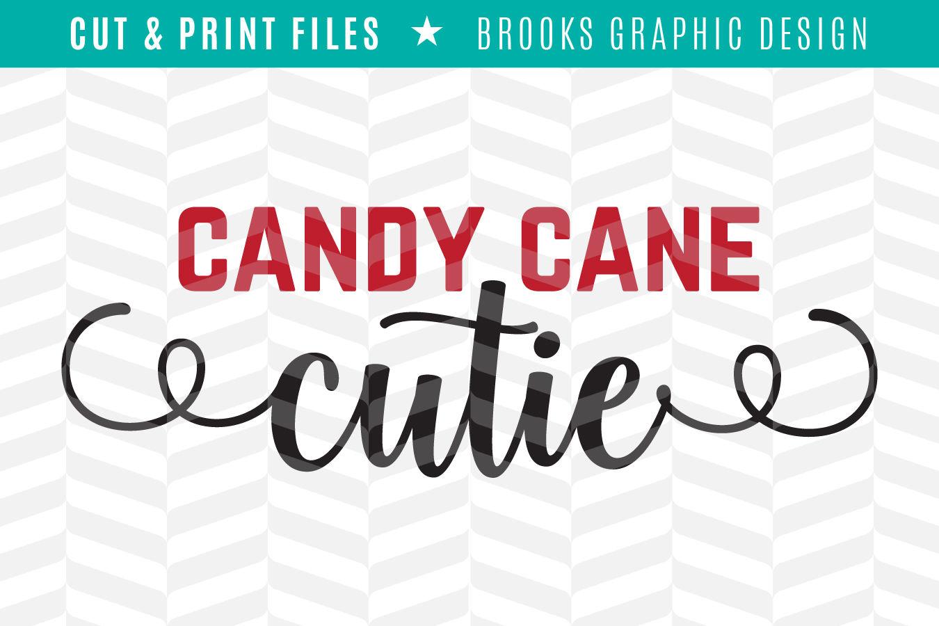 Candy Cane Cutie Dxf Svg Png Pdf Cut Print Files By Simply Bright Studio Thehungryjpeg Com